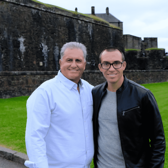 Trevor and Glen in Scotland